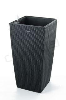 Samozavlažovací květináč G21 Linea ratan big černý 39cm