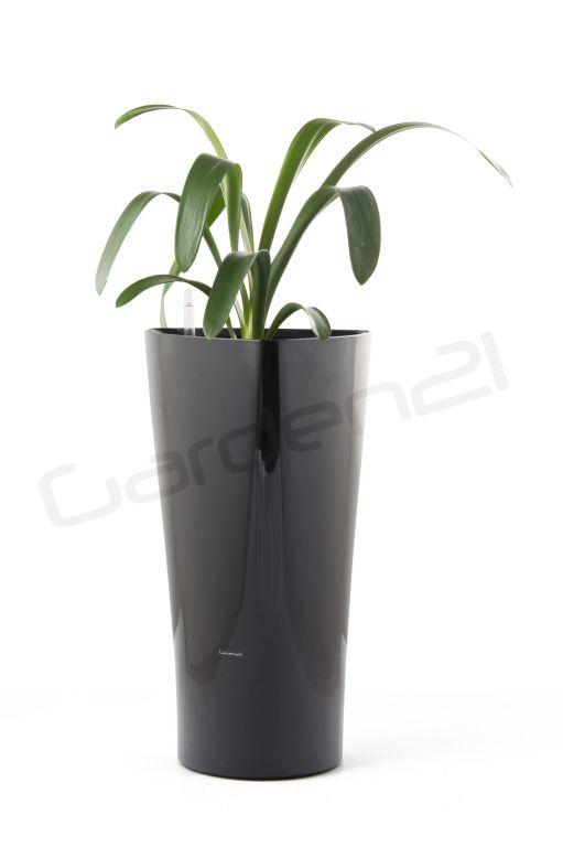 Samozavlažovací květináč G21 Trio černý 56.5cm