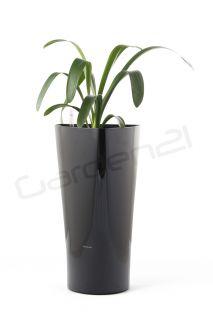 Samozavlažovací květináč G21 Trio černý 29.5cm
