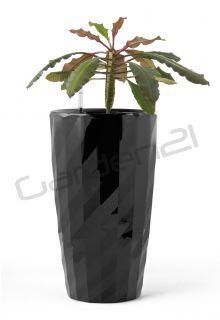 Samozavlažovací květináč G21 Diamant černý 57cm