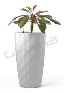 Samozavlažovací květináč G21 Diamant bílý 33cm