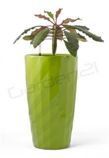 Samozavlažovací květináč G21 Diamant zelený 57cm