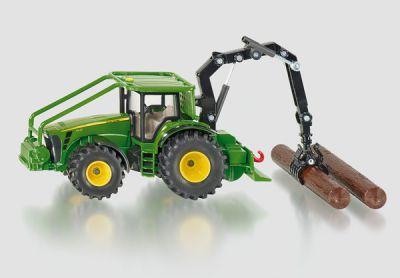 Hračka Siku Farmer Lesnický traktor John Deere, 1:50