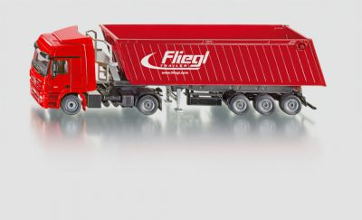 Hračka Siku Super Kamion s vyklápěcím vlekem  červený, 1:50