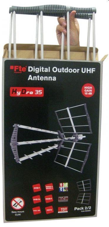 Anténa FTE HyDra 45 DVB-T venkovní aktivní anténa 17 dB