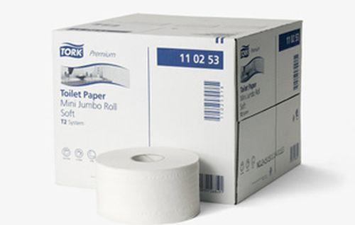 Toaletní papír Tork Premium T2 v Mini Jumbo roli, 2 vrstvy, 12ks