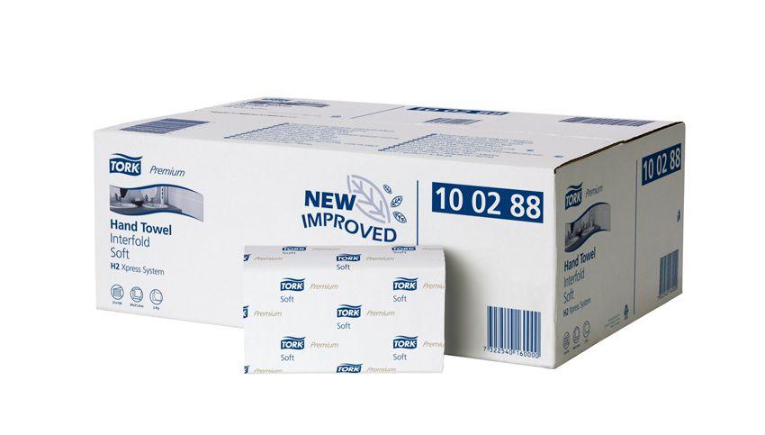 Ručníky Tork Premium Soft Interfold papírové skládané, bílá H2, 21x110ks