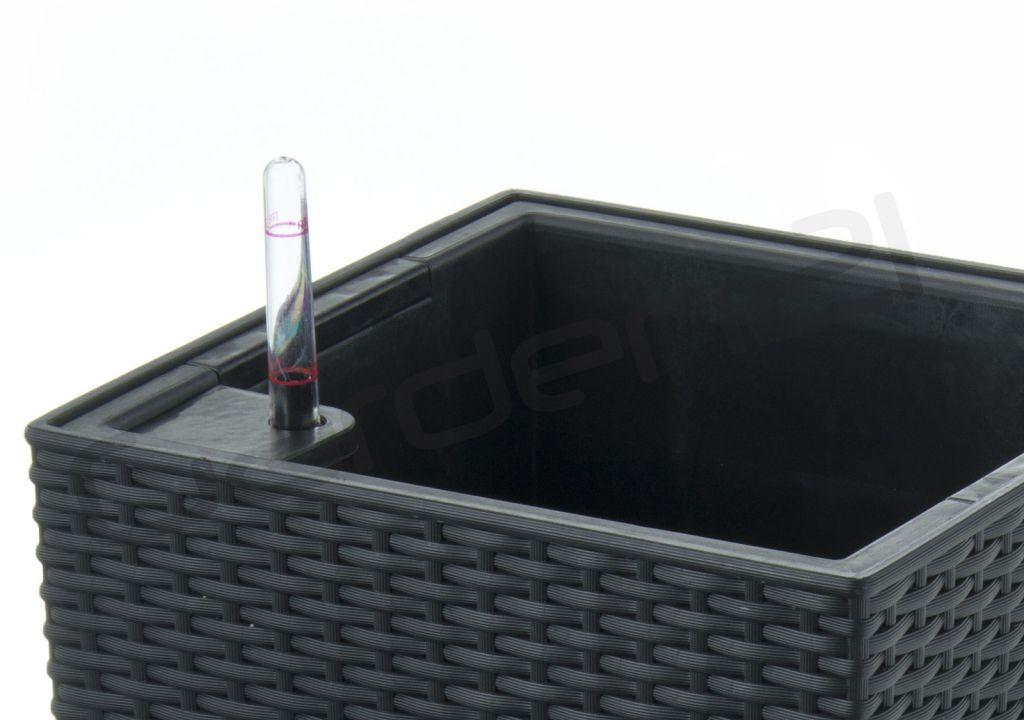 Samozavlažovací květináč G21 Linea ratan mocha 28cm