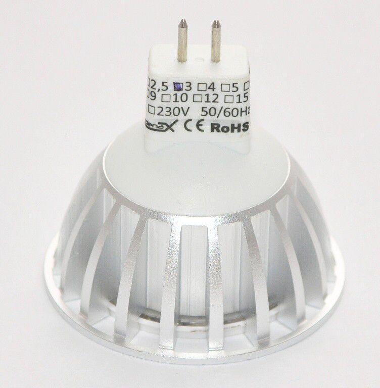 Žárovka G21 LED G5.3/MR16 3SMD, 12V, 3W, 300lm, teplá bílá
