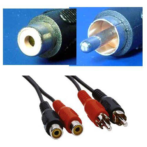 Kabel prodlužovací 2x cinch(M) - 2x cinch(F), 10m