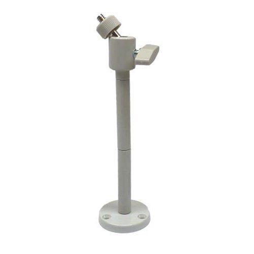 Držák CCTV s kloubem pro kompaktní kameru šedobílý, dlouhý do vnitřního prostředí