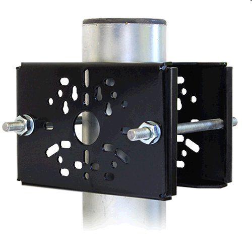 Držák CCTV DKS105 až pro 2 kamery na sloup, komaxit černý