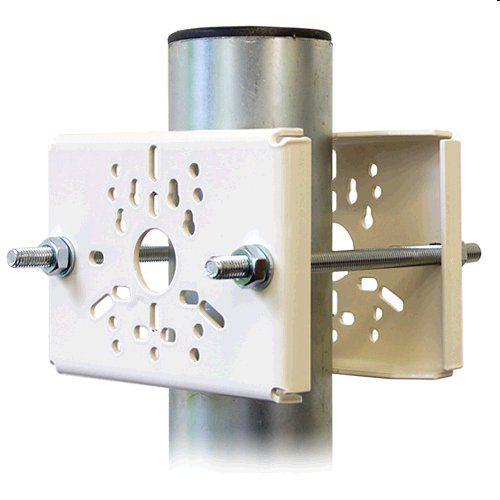 Držák CCTV DKS105 až pro 2 kamery na sloup, komaxit bílý