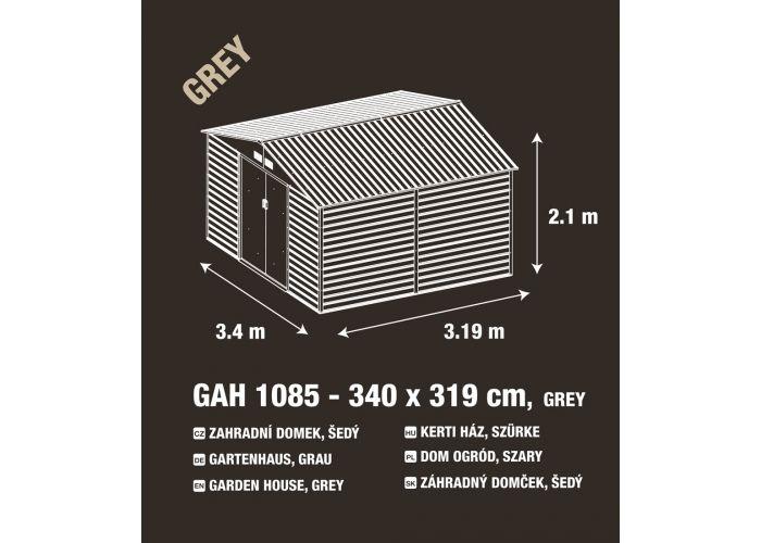 Zahradní domek G21 GAH 1085 - 340 x 319 cm, šedý