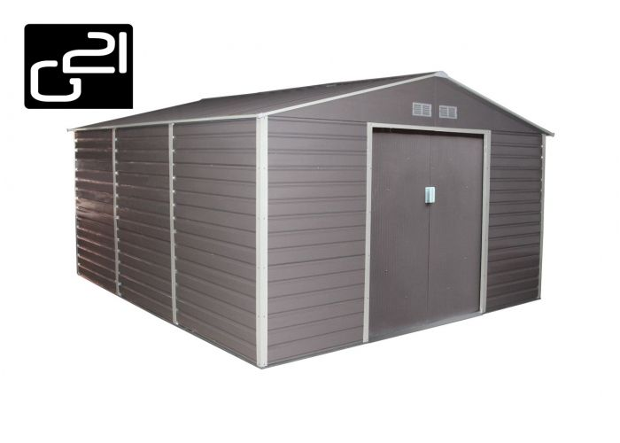 G21 GAH 1300 Zahradní domek - 340 x 382 cm, šedý