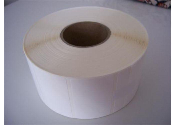 Etikety 38mm x 9mm bílý papír, cena za 5000ks/1kotouč/D40