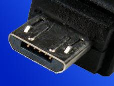 Redukce Roline USB A(F) - microUSB B(M), OTG, 0,15m, černý