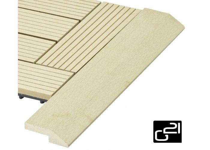 Přechodová lišta G21 pro WPC dlaždice Cumaru 38,5×7,5 cm rohová