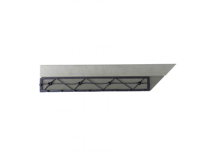 Přechodová lišta G21 pro WPC dlaždice Incana, 38,5×7,5 cm rohová (pravá)