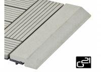 G21 přechodová lišta pro WPC obklady Incana, rovná 30x7,5 cm