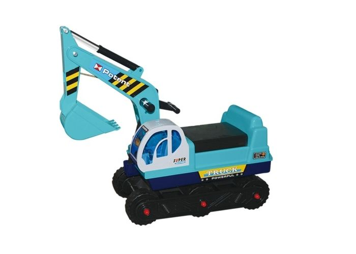 G21 Dětský bagr pásový modrý