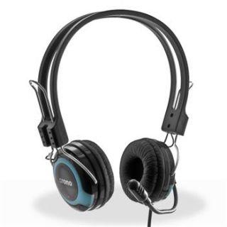 Sluchátka crono HM-53B multimeduální náhlavní sluchátka s mikrofonem, 2x3.5mm JACK, 220cm kabel