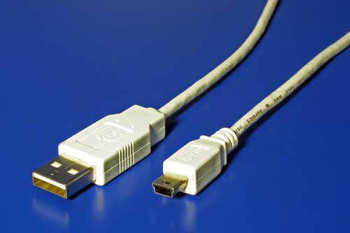 Kabel USB A(M) - miniUSB 5pin B(M), 0,8m (Nikon UC-E4, UC-E5, Olympus CB-USB4, Fuji FZ0536