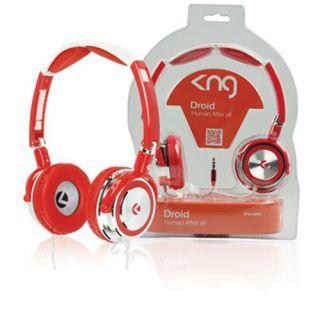 Sluchátka KNG DROID - červená