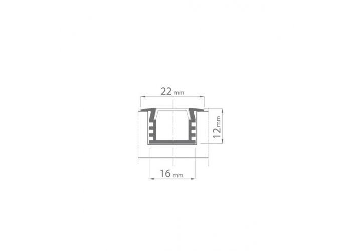 Hliníkový profil Prowax PDS4-K - ALU anodizovaný, bez difuzoru - 1m
