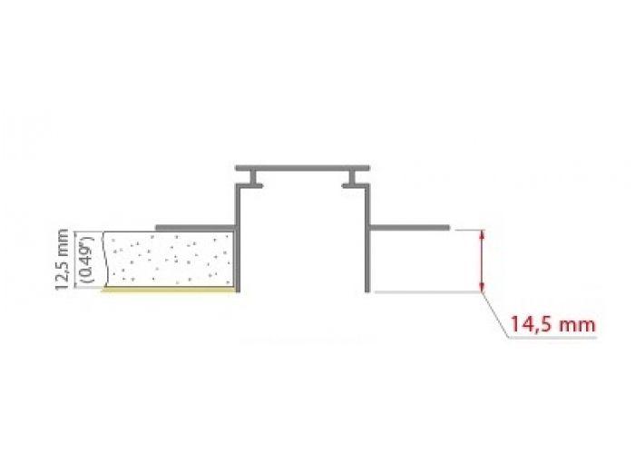Hliníkový profil Prowax TEKNIK, bez difuzoru - 1m