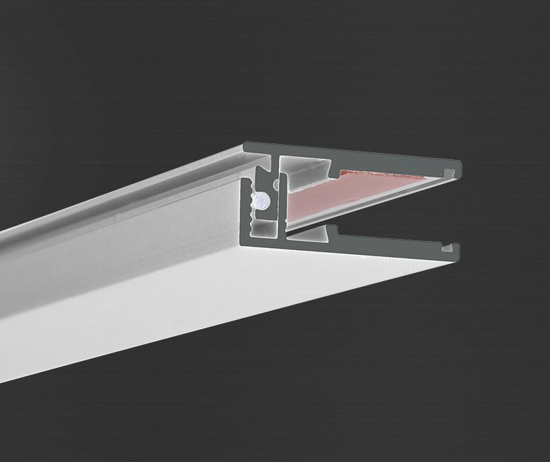 Hliníkový profil Prowax KRAV 56 neanodizovaný, bez difuzoru - 2m