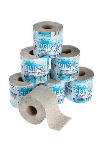 Toaletní papír Prima soft 400 recy (návin 34m, průměr 11 cm) 1 vrstva, 32ks