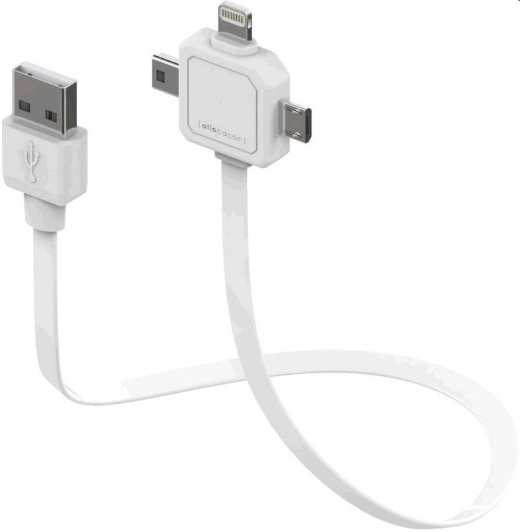 Kabel PowerCube PWC-USB-CABLE miniUSB, microUSB, Apple lightning - napájecí USB kabel