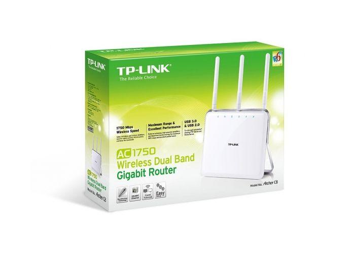 WiFi router TP-Link Archer C8 AC1750 dual AP, 4x LAN Gigabit, 2x USB/ 450Mbps 2,4/ 1300Mbp