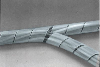 Páska spirálová k organizaci kabeláže 4-50mm 10m ČIRÁ