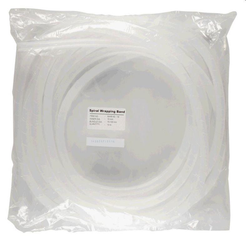Páska spirálová k organizaci kabeláže 9-65mm 10m ČIRÁ