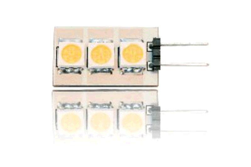 Žárovka Lumenmax LED G4, 12V, 0,6W, 40lm, studená bílá