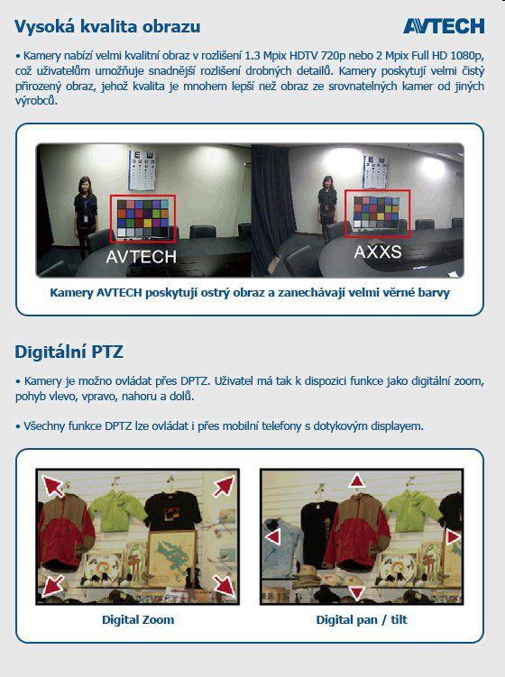 Kamera Avtech AVM357 venkovní 1,3Mgpx IP s IR, HD Ready, ETS, PoE, H.264, IP66