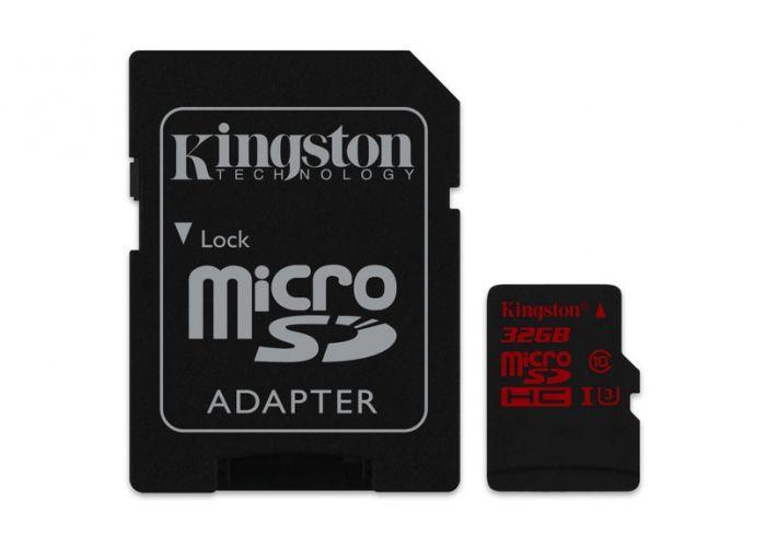 Paměťová karta Kingston micro SDHC U3 32GB, 90R/80W, s adaptérem