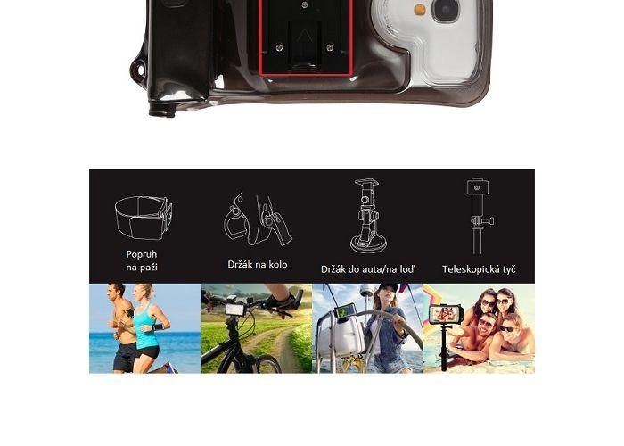 Podvodní pouzdro DiCAPac Action WP-C2A pro větší smartphone telefony (do 5.7″)