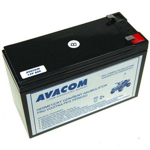 Baterie Avacom (olověný akumulátor) 12V 8Ah do vozítka  Peg Pérego - neoriginální