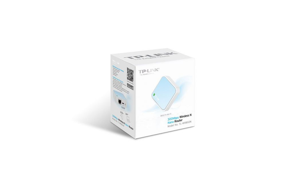 WiFi router TP-Link TL-WR802N Mini poket AP/klient, 1x WAN, 1x micro USB, 2,4GHz 300Mbps