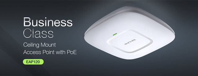 WiFi router TP-Link EAP220 stropní AP/client/bridge/repeater, 1x Gigabit WAN, 2,4 a 5 GHz,