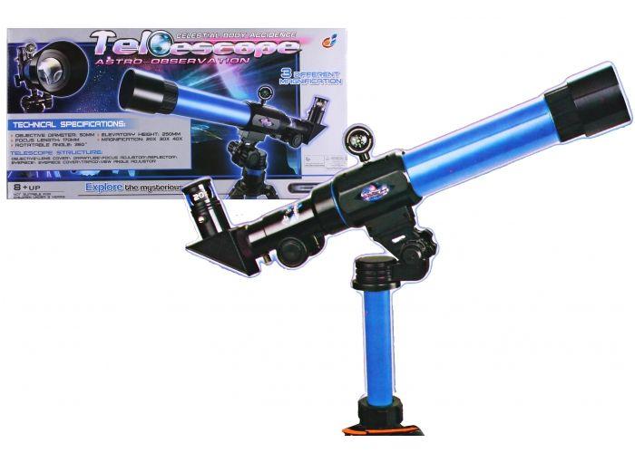 Hračka G21 Dětský teleskop modrý 50mm