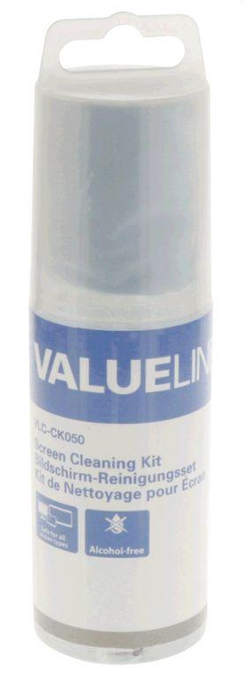 Čistící sada Valueline VLC-CK050 na obrazovky, 150ml, roztok + čisticí utěrka