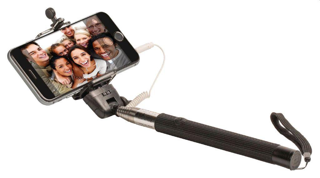 Selfie tyč KÖNIG teleskopická  se spouští a pogumovanou rukojetí