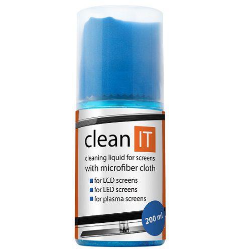 Čistící prostředek Clean It - čistící roztok na obrazovky s utěrkou ve víčku, 200ml
