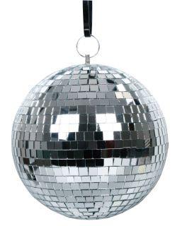 Zrcadlová koule stříbrná, 30 cm