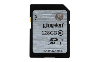 Paměťová karta Kingston SDXC UHS-I class 10 128GB, čtení 45MB/s