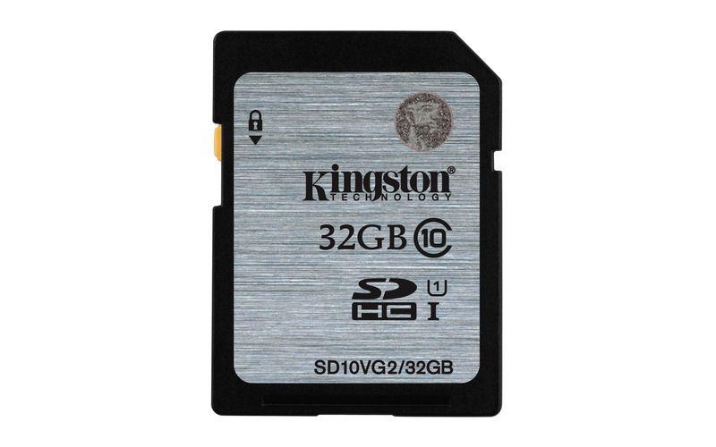 Paměťová karta Kingston SDHC UHS-I class 10 32GB, čtení 45MB/s